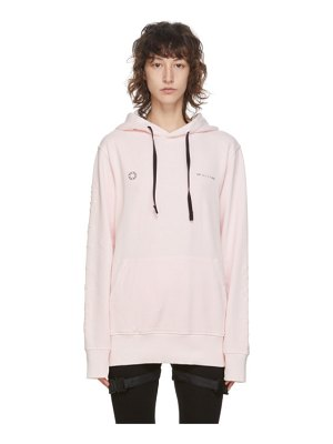 1017 ALYX 9SM pink double logo hoodie