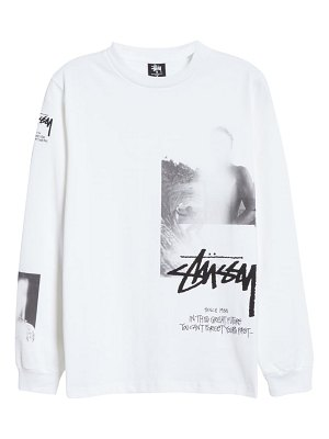 1017 ALYX 9SM x stussy logo graphic long sleeve cotton tee