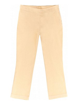 120 Lino Stretch Linen Ankle Pants