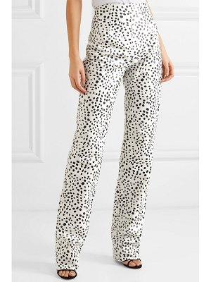16ARLINGTON printed leather straight-leg pants