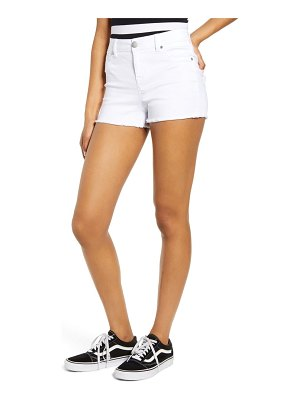 1822 Denim fray hem denim shorts