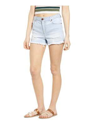 1822 Denim raw hem denim shorts
