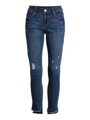 1822 Denim ripped step hem ankle skinny jeans