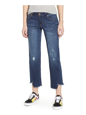 1822 Denim twist hem straight leg jeans