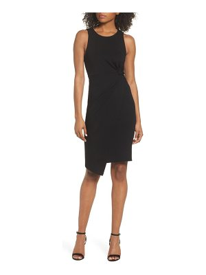 19 Cooper asymmetric hem sheath dress