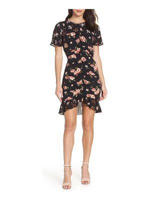 19 Cooper center ruched ruffle dress