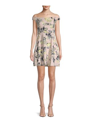 19 Cooper Floral Off-The-Shoulder Mini Dress