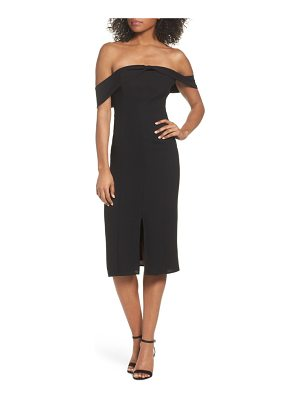 19 Cooper off the shoulder sheath dress