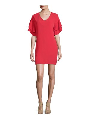 19 Cooper Ruffled-Sleeve Mini Dress