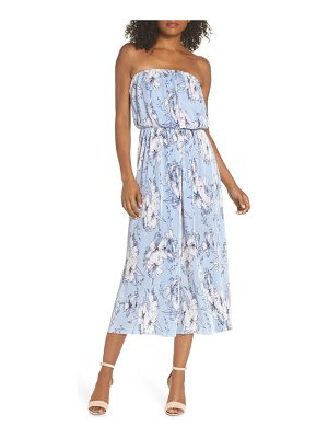 19 Cooper strapless pleated jumpsuit