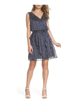 19 Cooper surplus polka dot tie waist chiffon dress
