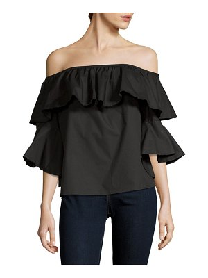 1ST SIGHT Bonning Off-The-Shoulder Cotton Top