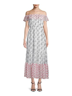 1ST SIGHT Printed Off-The-Shoulder Maxi Dress
