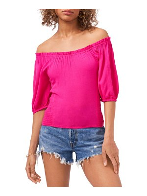 1.State 1. state puff sleeve gauze top