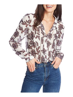 1.State baroque paisley pintuck blouse