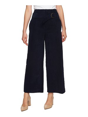1.State belted wide leg corduroy pants