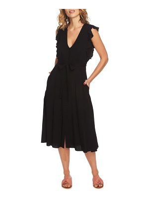 1.State button front midi dress