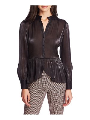 1.State button up peplum top