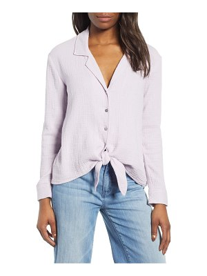 1.State button-up tie front top