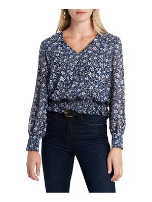 1.State chateau floral long sleeve top