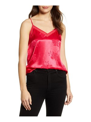 1.State chiffon inset floral jacquard camisole top