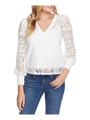1.State cozy lace knit top