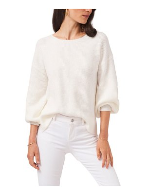 1.State cross back bubble sleeve sweater