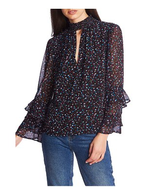 1.State ditsy floral ruffle sleeve blouse