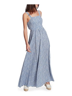 1.State ditsy tie back maxi dress