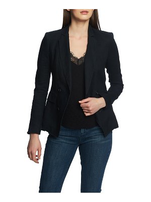 1.State double breasted linen blazer