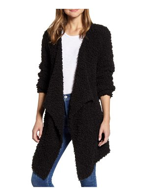 1.State drape front poodle cardigan