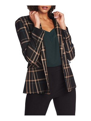 1.State dynamite plaid single-button blazer