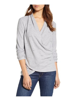 1.State embellished cross front top