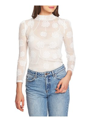 1.State embroidered mesh top