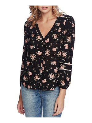 1.State festival floral piped trim top