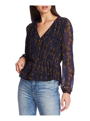 1.State floral print pleated top