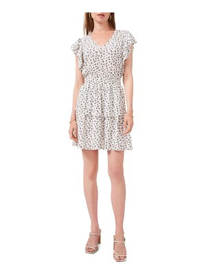 1.State floral print tiered ruffle dress