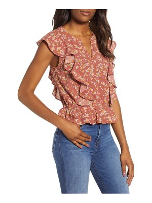 1.State flounce heritage bouquet blouse