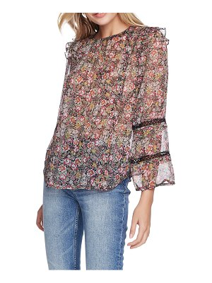 1.State forest gardens lace inset chiffon blouse