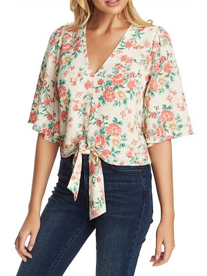1.State ikat bouquet tie front top
