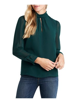 1.State keyhole blouse