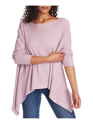 1.State knot back waffle knit top