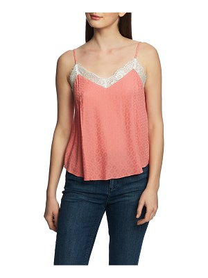 1.State lace trim tank top