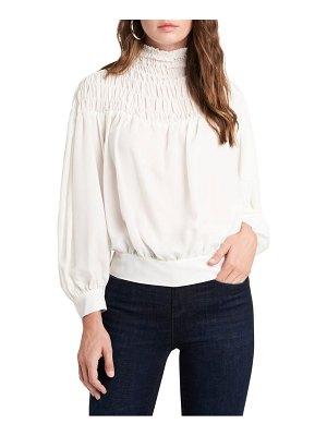 1.State long sleeve smocked top