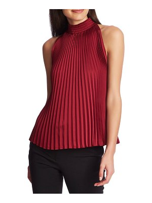 1.State pleated charmeuse halter top