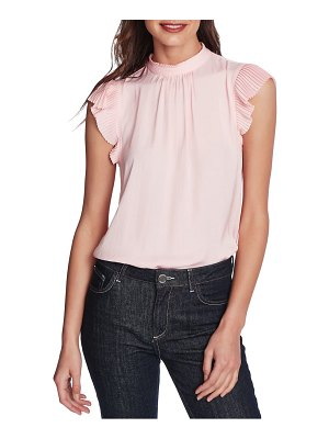 1.State pleated sleeve top