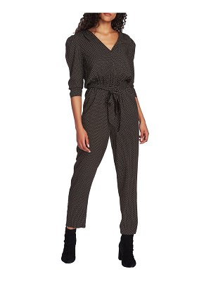 1.State puff sleeve jumpsuit