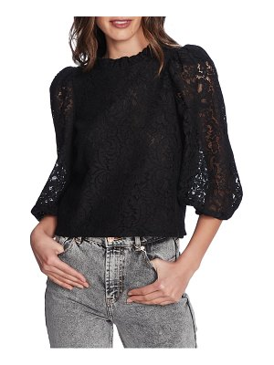 1.State puff sleeve lace top