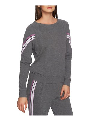 1.State ribbon sleeve stripe top