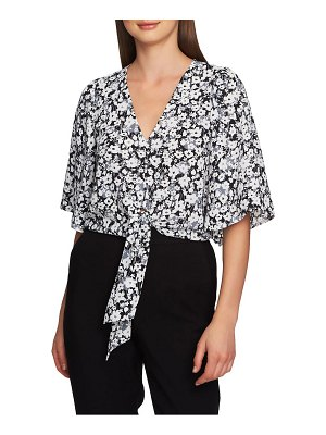 1.State romantic meadow tie front blouse